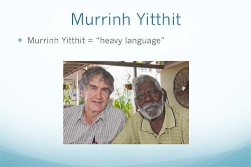 Murrinh Yitthit heavy language